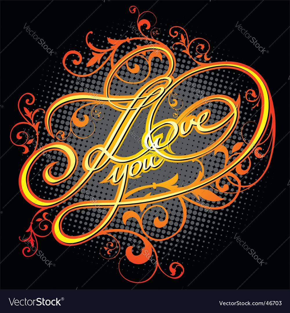 Grunge love titles vector | Price: 1 Credit (USD $1)