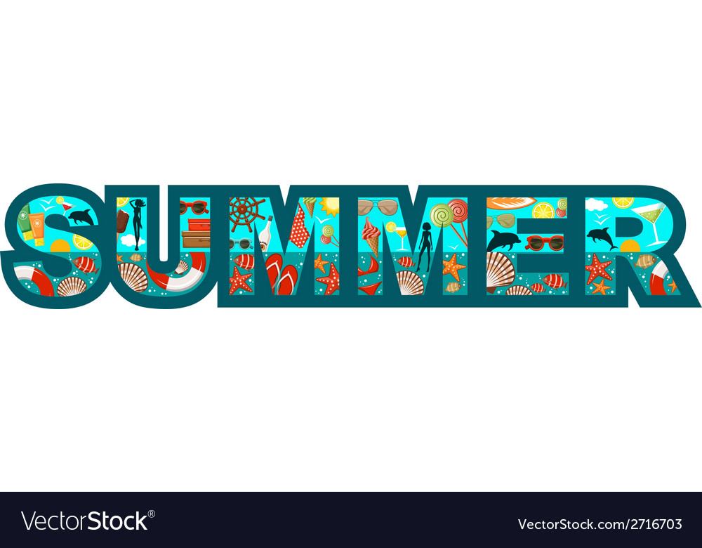 Inscription summer vector | Price: 1 Credit (USD $1)