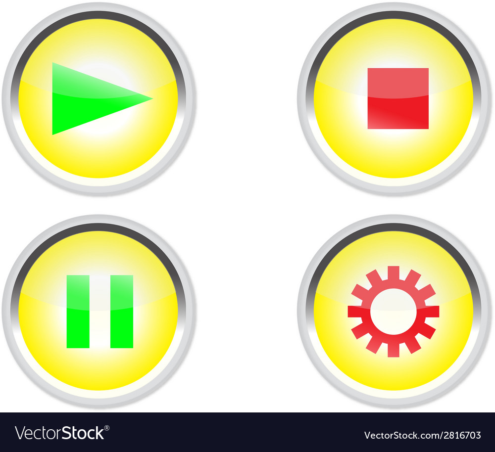 Media buttons icon vector   Price: 1 Credit (USD $1)
