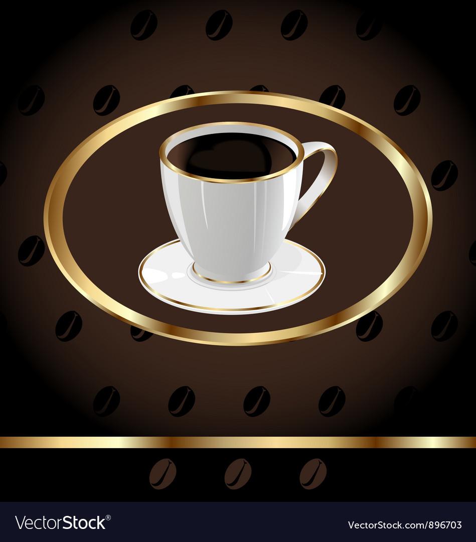 Vintage coffee background vector | Price: 1 Credit (USD $1)
