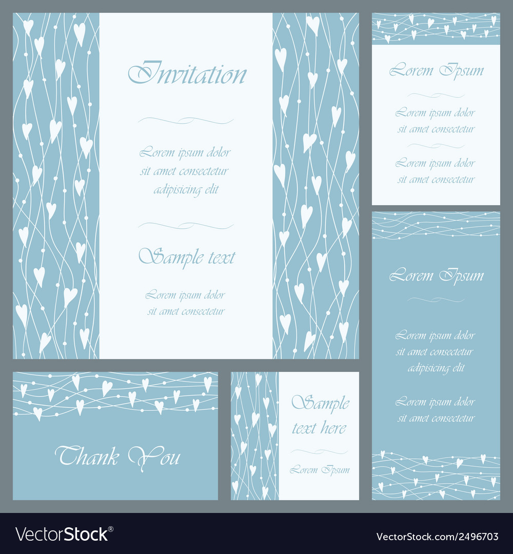 Wedding or invitation card set vector | Price: 1 Credit (USD $1)