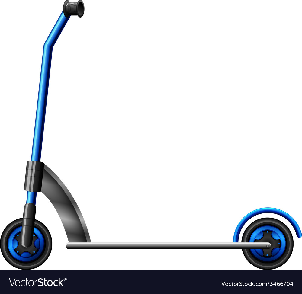 A blue scooter vector | Price: 1 Credit (USD $1)