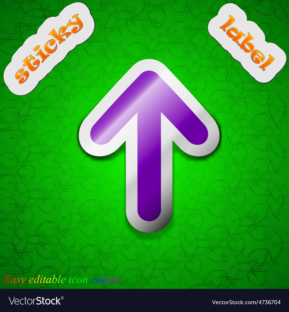 Arrow up this side up icon sign symbol chic vector   Price: 1 Credit (USD $1)