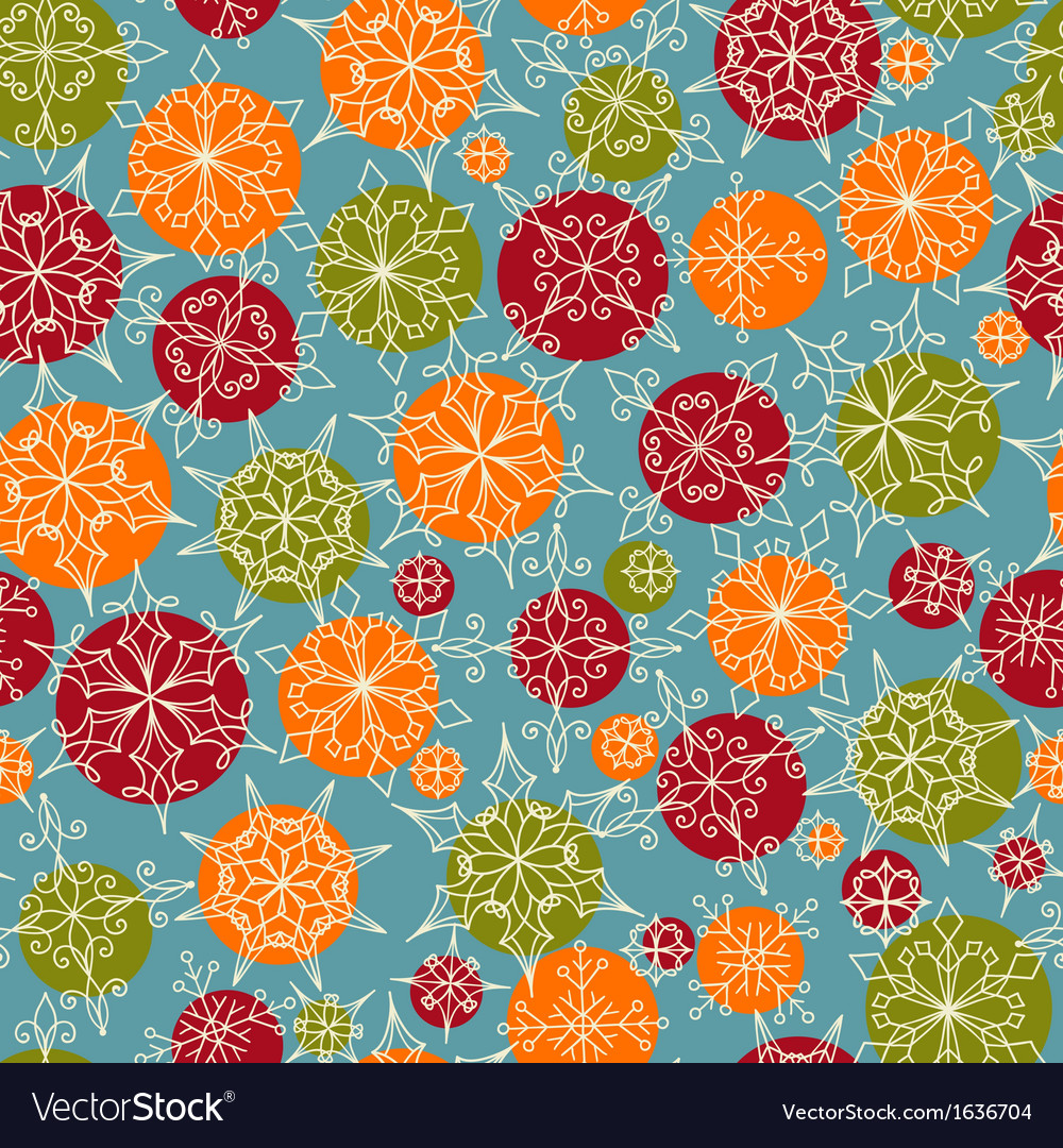 Bright seamless christmas and new year pattern vector | Price: 1 Credit (USD $1)