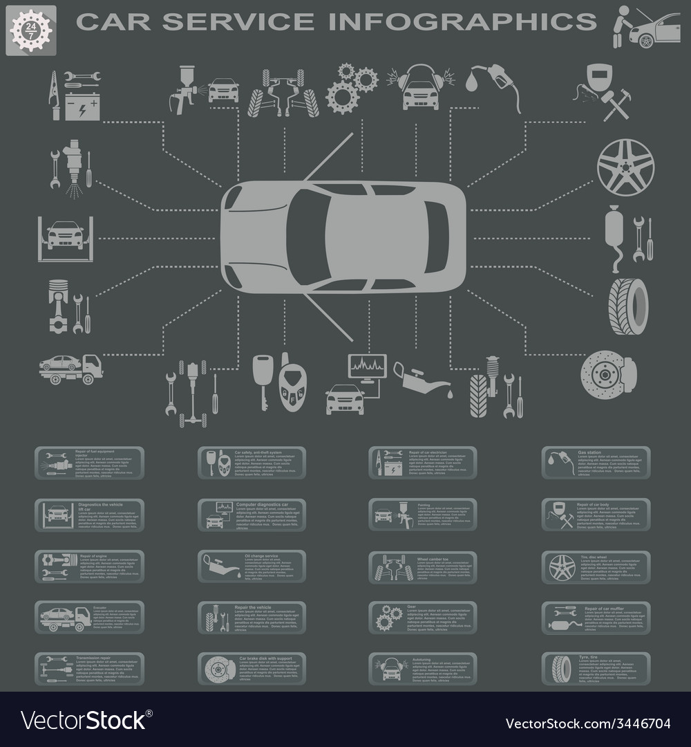 Car service infographics 28 vector | Price: 1 Credit (USD $1)