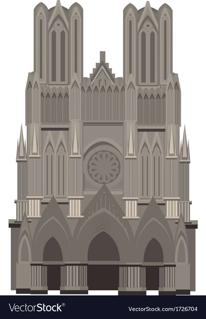 Cathedral of notre dame paris vector | Price: 1 Credit (USD $1)