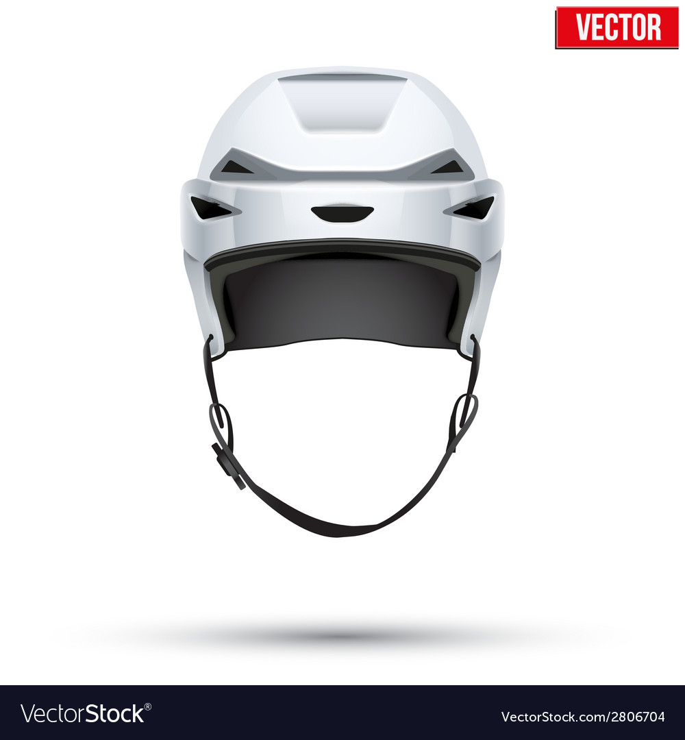 Classic white hockey helmet isolated on background vector | Price: 1 Credit (USD $1)