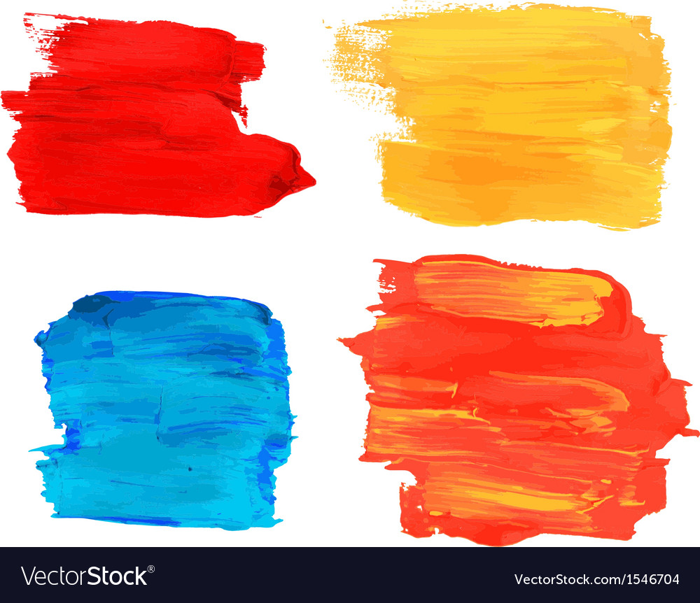 Collection of artistic paint banners vector   Price: 1 Credit (USD $1)