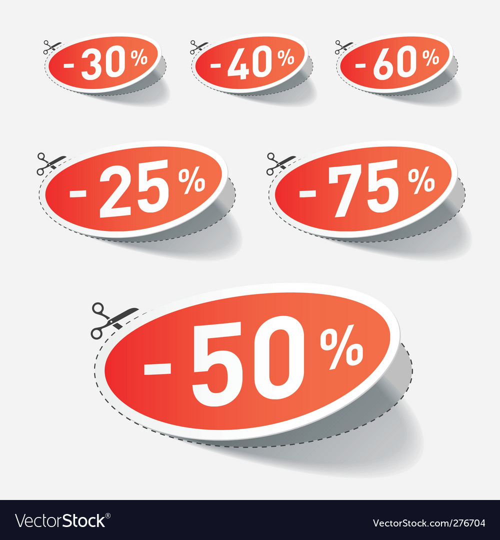 Discount percent with cut line vector | Price: 1 Credit (USD $1)