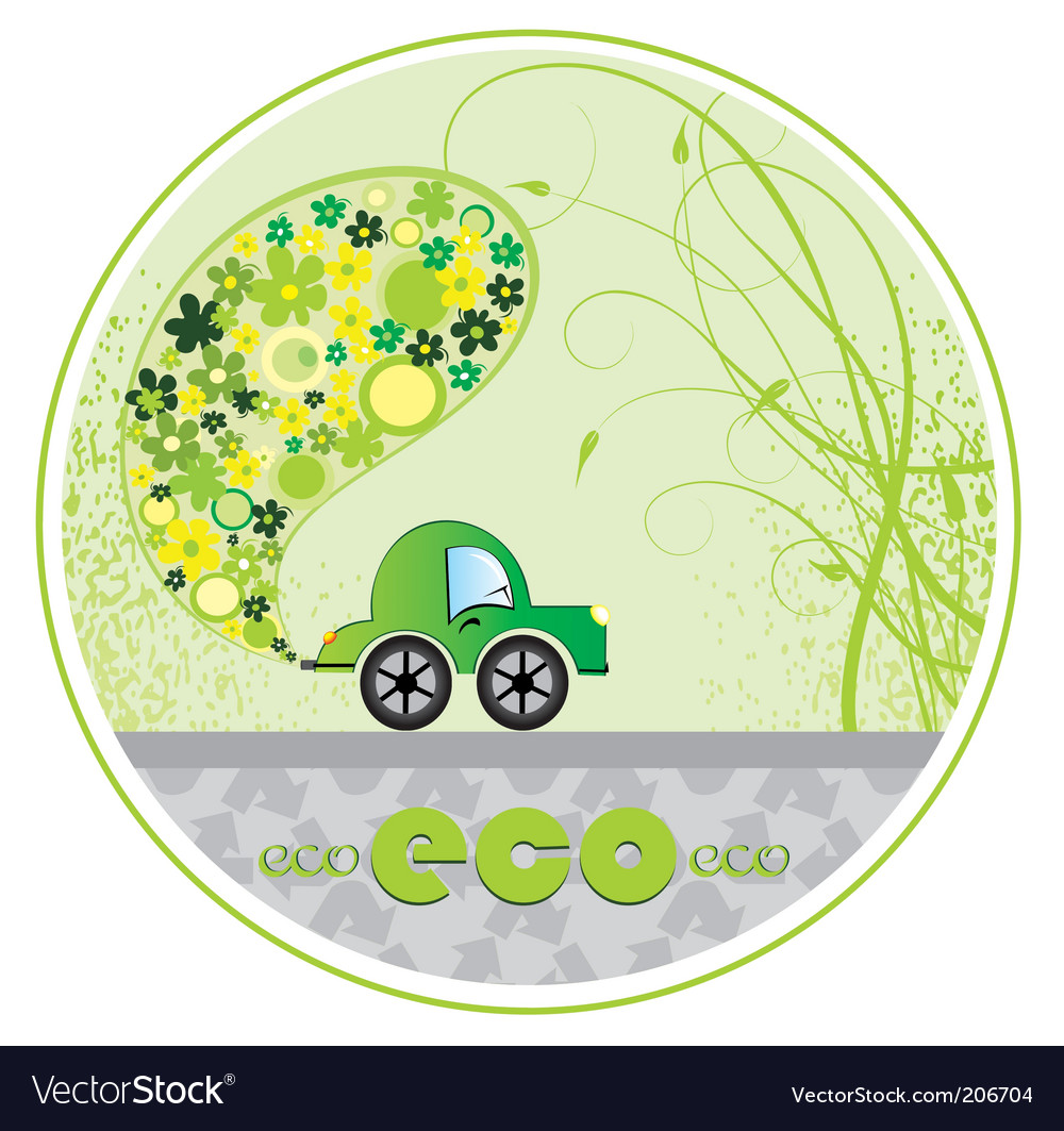 Eco car illustration vector | Price: 1 Credit (USD $1)