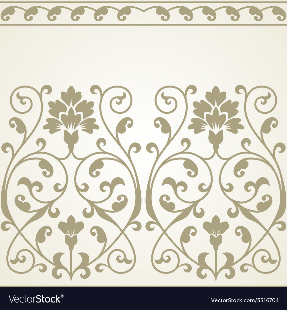 Floral pattern for invitation or greeting card vector | Price: 1 Credit (USD $1)