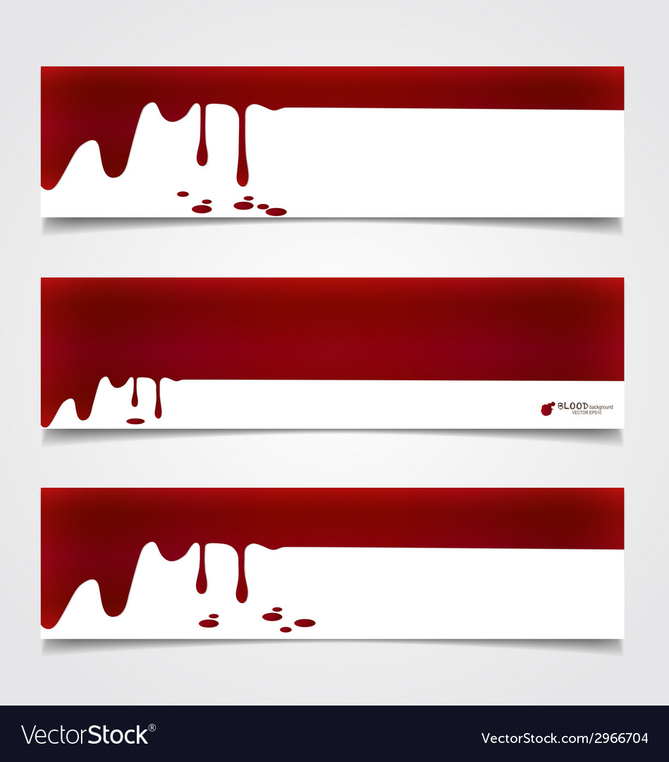 Happy halloween design banners blood dripping on vector | Price: 1 Credit (USD $1)