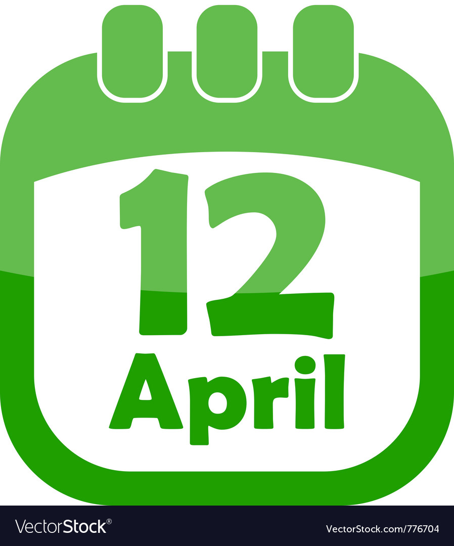 Icon of easter calendar vector   Price: 1 Credit (USD $1)