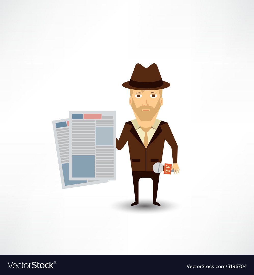 Journalist vector | Price: 1 Credit (USD $1)