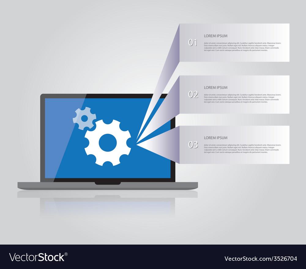 Laptop vector   Price: 1 Credit (USD $1)