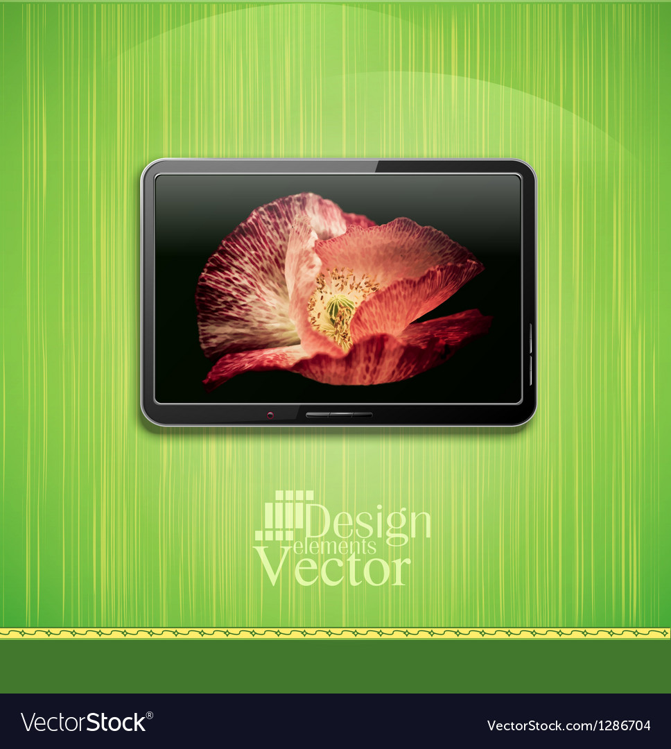 Lcd plasma tv vector | Price: 1 Credit (USD $1)