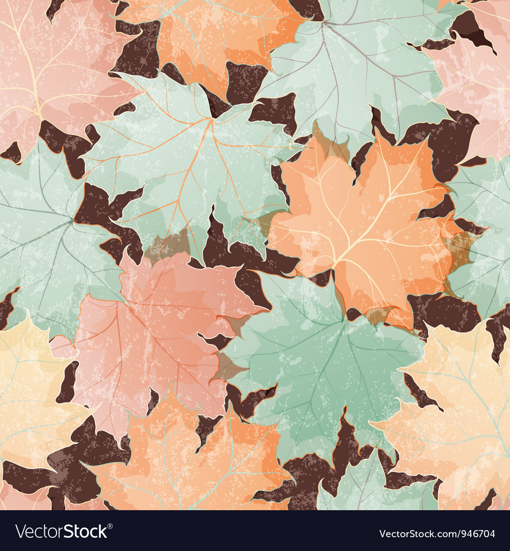 Maple leaves seamless wallpaper vector | Price: 3 Credit (USD $3)