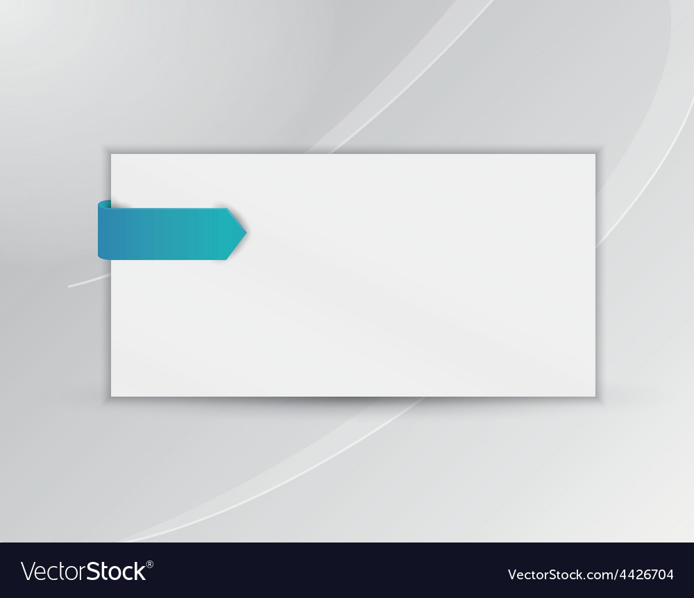 Ribbon or bookmark with blank paper vector | Price: 1 Credit (USD $1)