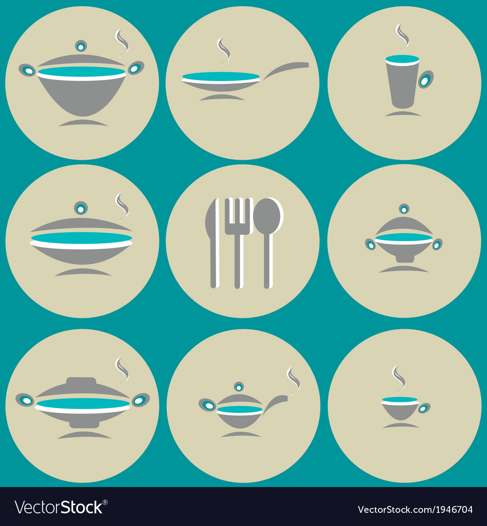 Seamless background with kitchen accessories vector | Price: 1 Credit (USD $1)