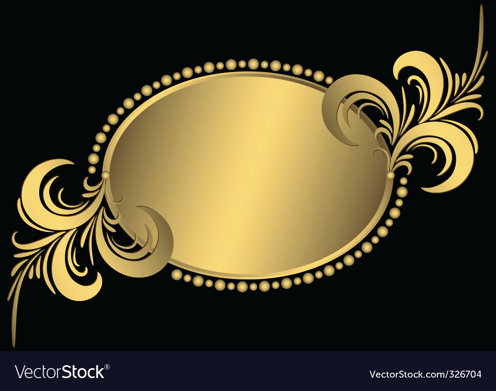 Vintage gold frame vector | Price: 1 Credit (USD $1)