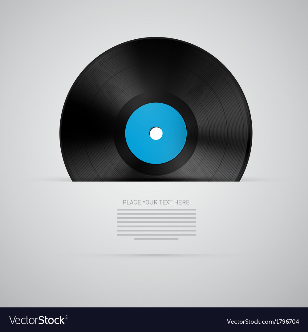 Vinyl record disc isolated on grey background vector | Price: 1 Credit (USD $1)