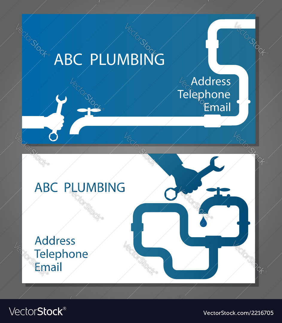 Business card for repair plumbing vector | Price: 1 Credit (USD $1)