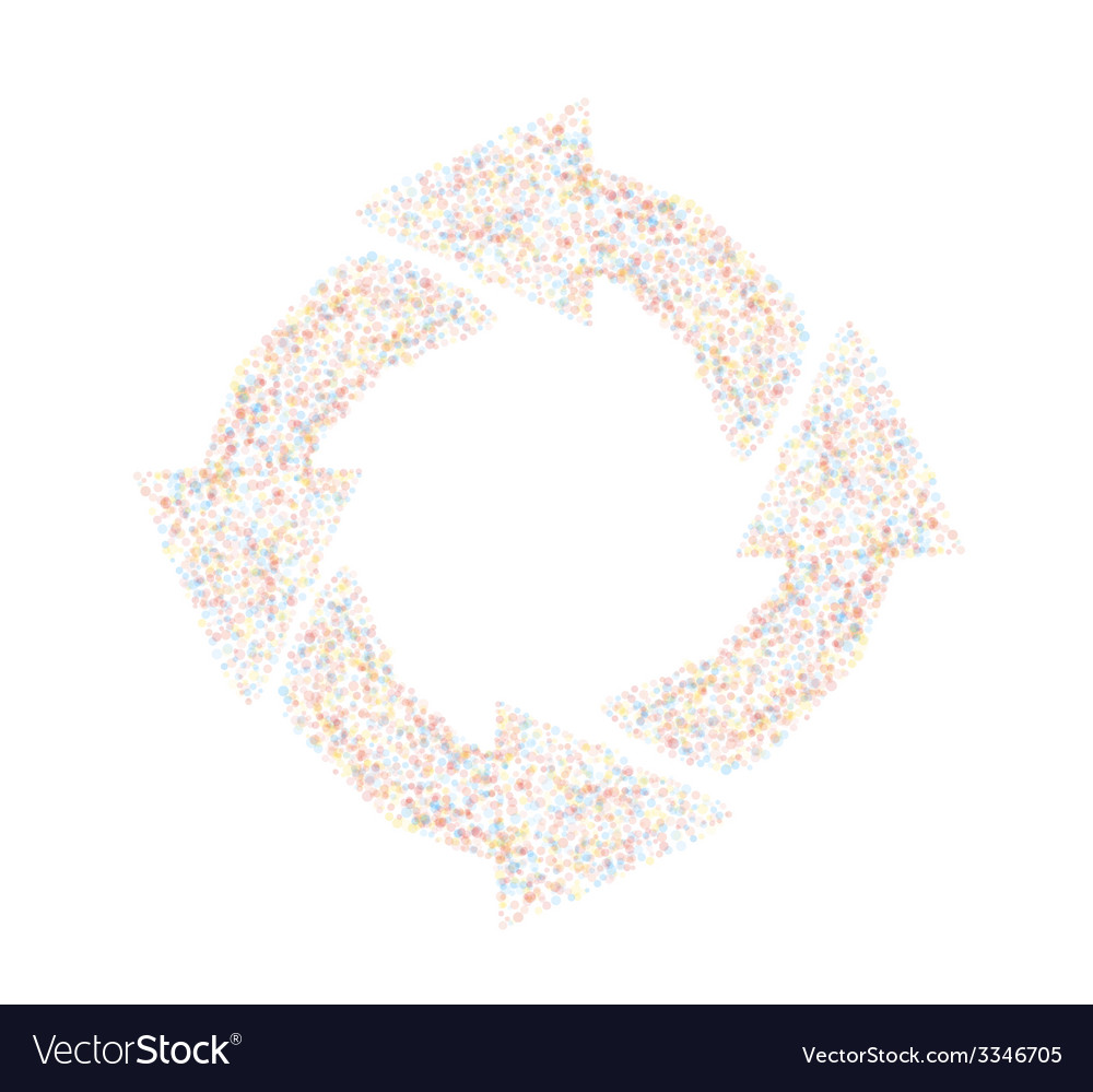 Dotted circle arrows vector | Price: 1 Credit (USD $1)