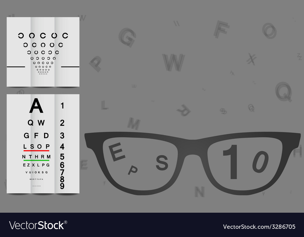Eye chart vector | Price: 1 Credit (USD $1)