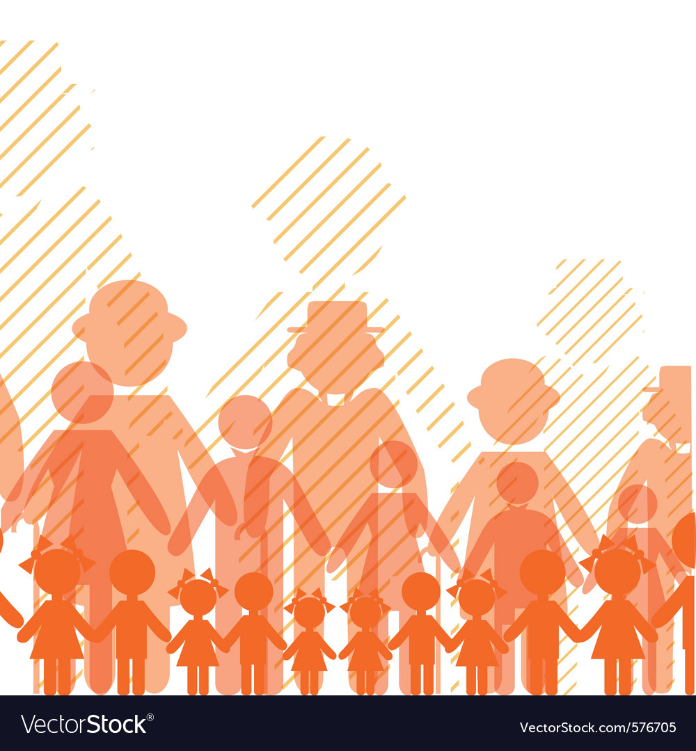 Icon crowd people vector | Price: 1 Credit (USD $1)