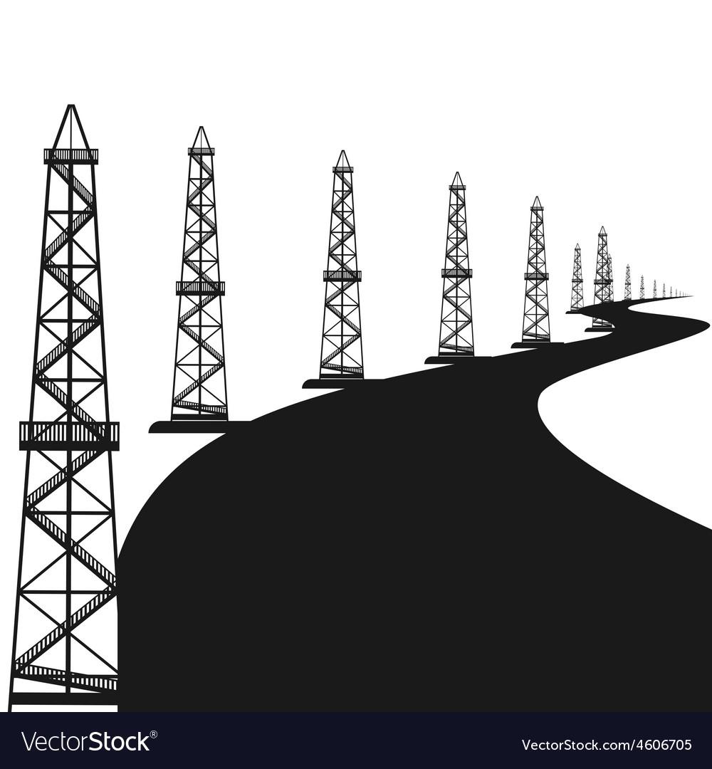 Oil rigs vector | Price: 1 Credit (USD $1)
