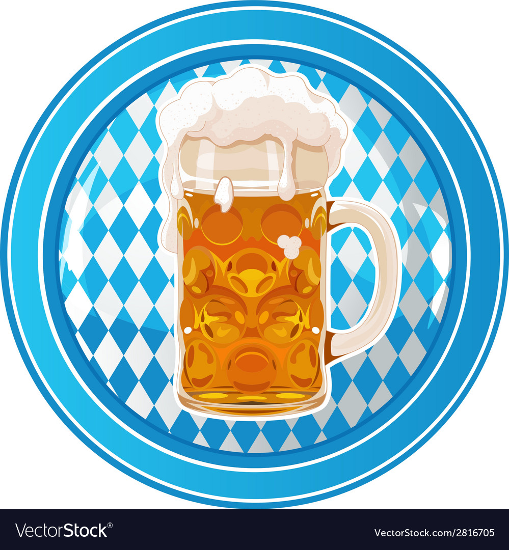 Oktoberfest circle button vector | Price: 1 Credit (USD $1)