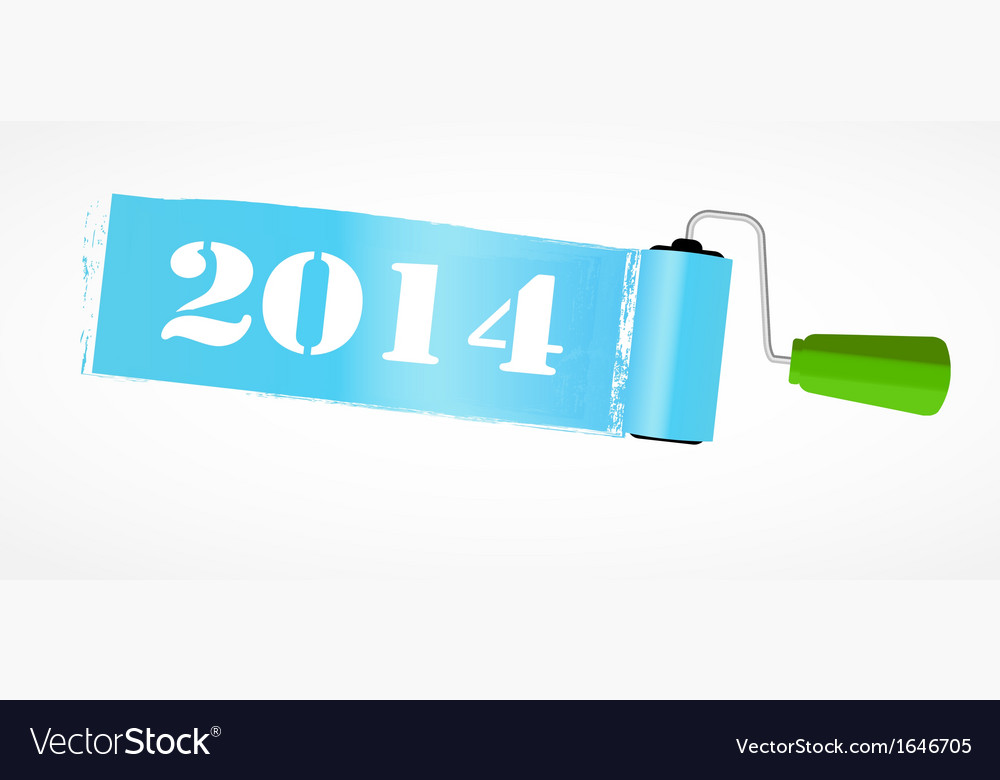 Paint roll 2014 new year background vector | Price: 1 Credit (USD $1)