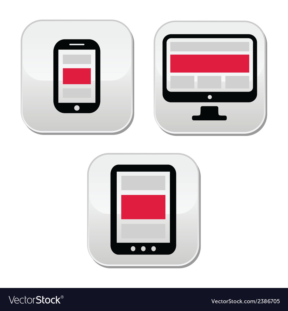 Responsive design for web - computer screen smart vector | Price: 1 Credit (USD $1)