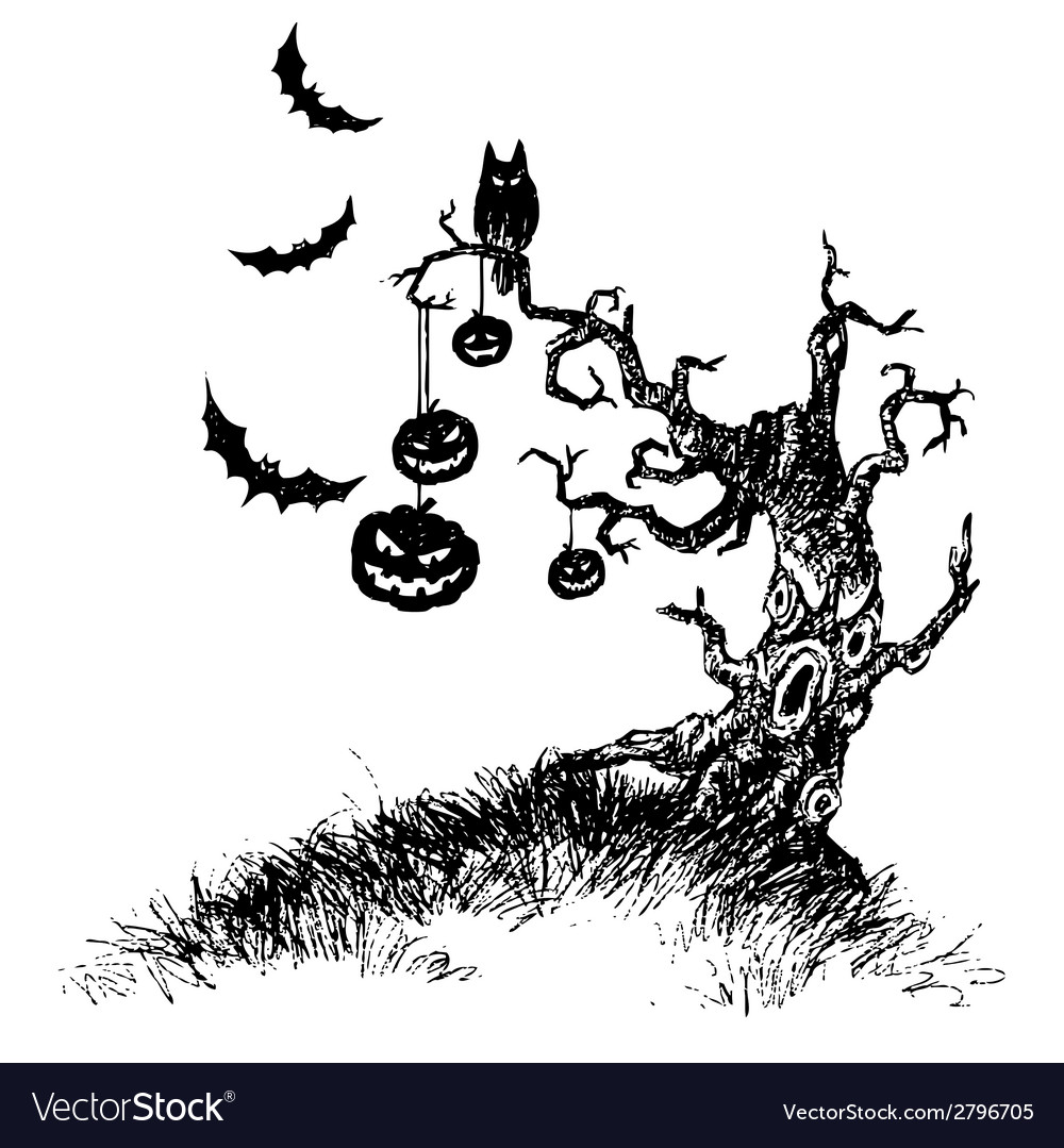 Tree of devil vector | Price: 1 Credit (USD $1)