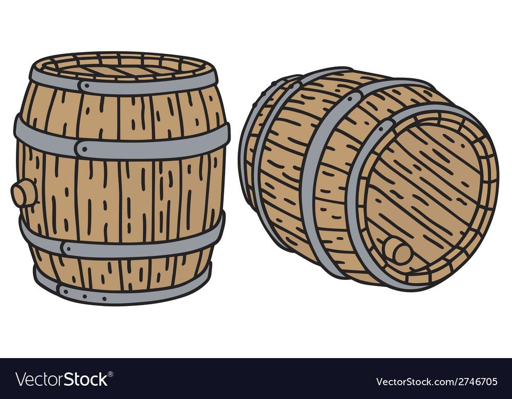 Wooden barrels vector | Price: 1 Credit (USD $1)