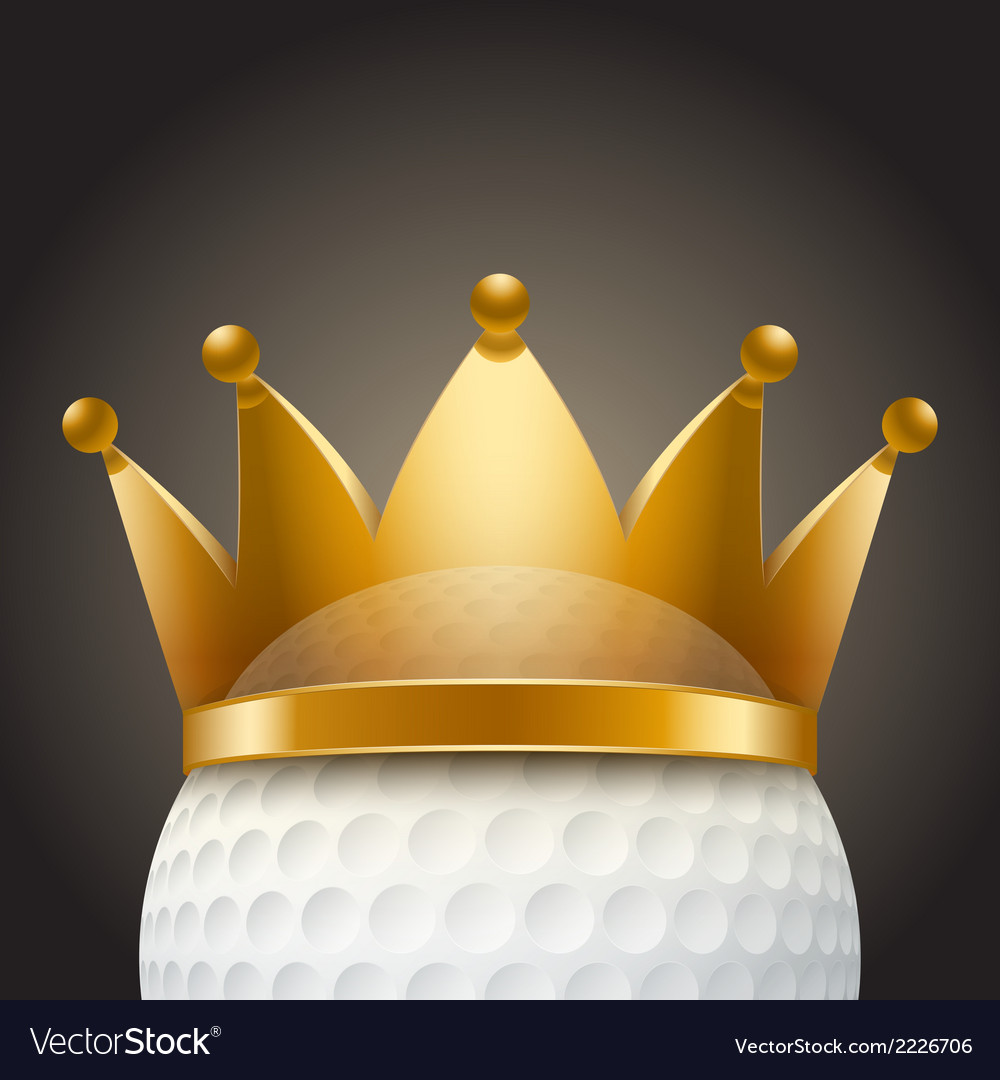 Background of golf ball with royal crown vector | Price: 1 Credit (USD $1)