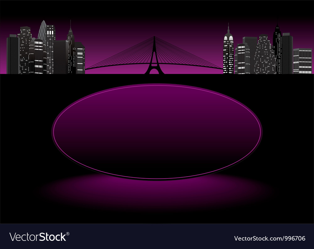 City frame purple vector | Price: 1 Credit (USD $1)
