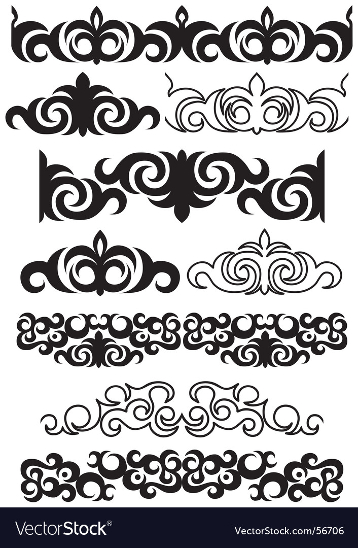 Decorative boarders vector | Price: 1 Credit (USD $1)