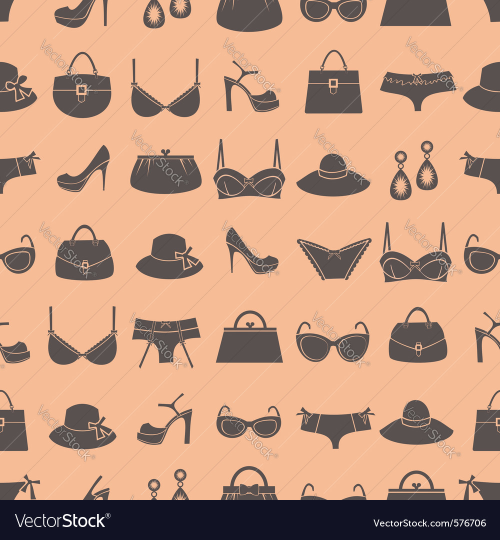 Fashion accessories pattern vector | Price: 1 Credit (USD $1)