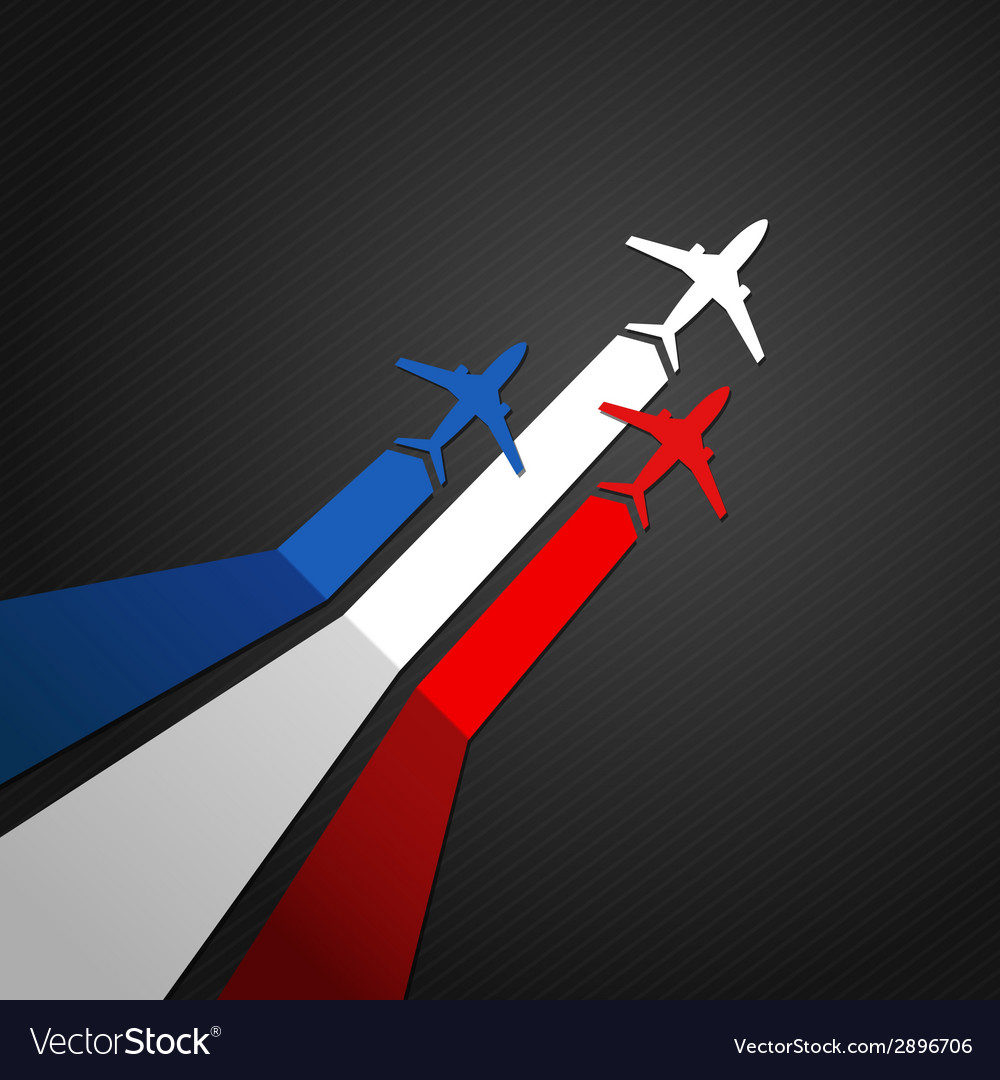 France plane vector | Price: 1 Credit (USD $1)