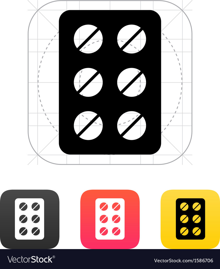 Pack pills icon vector | Price: 1 Credit (USD $1)