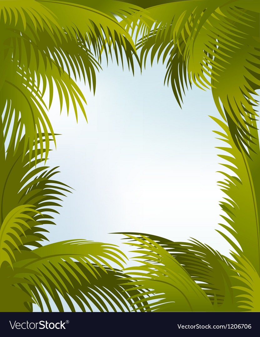 Palm frame vector | Price: 1 Credit (USD $1)