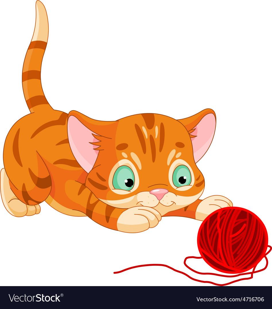 Playful kitten vector   Price: 3 Credit (USD $3)