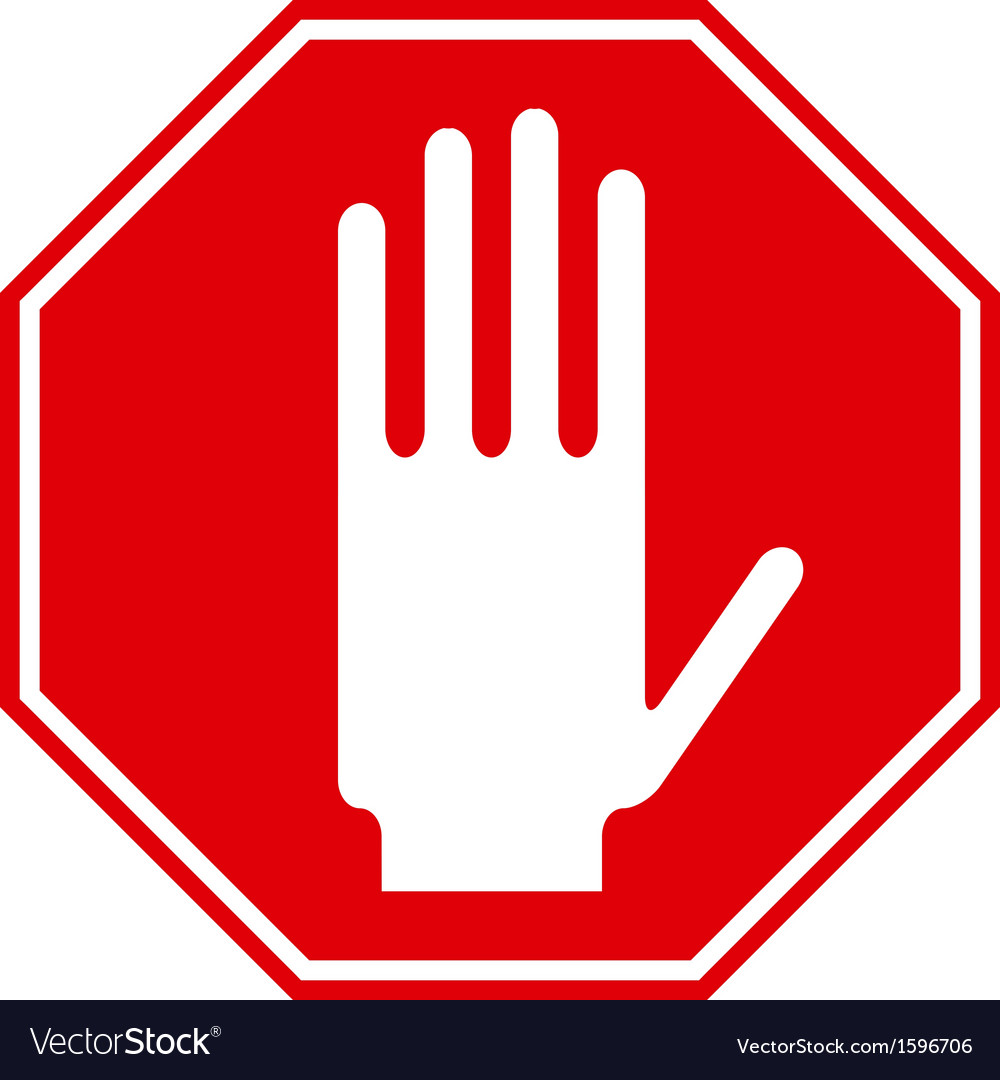 Stop sign vector   Price: 1 Credit (USD $1)