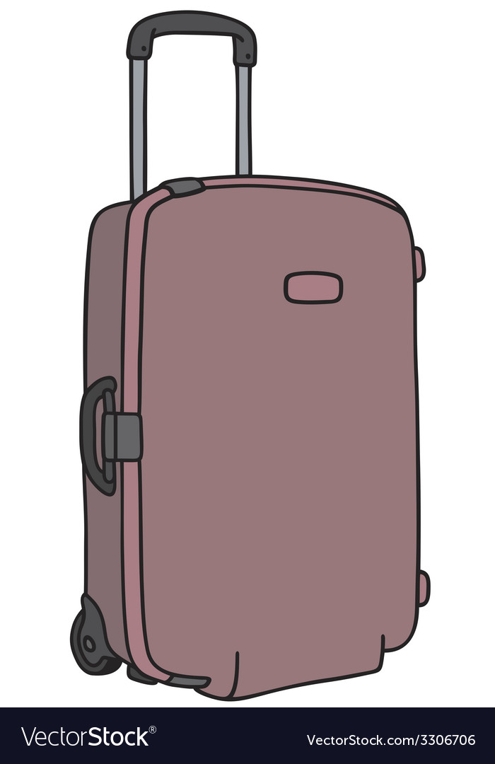 Suitcase on wheels vector | Price: 1 Credit (USD $1)
