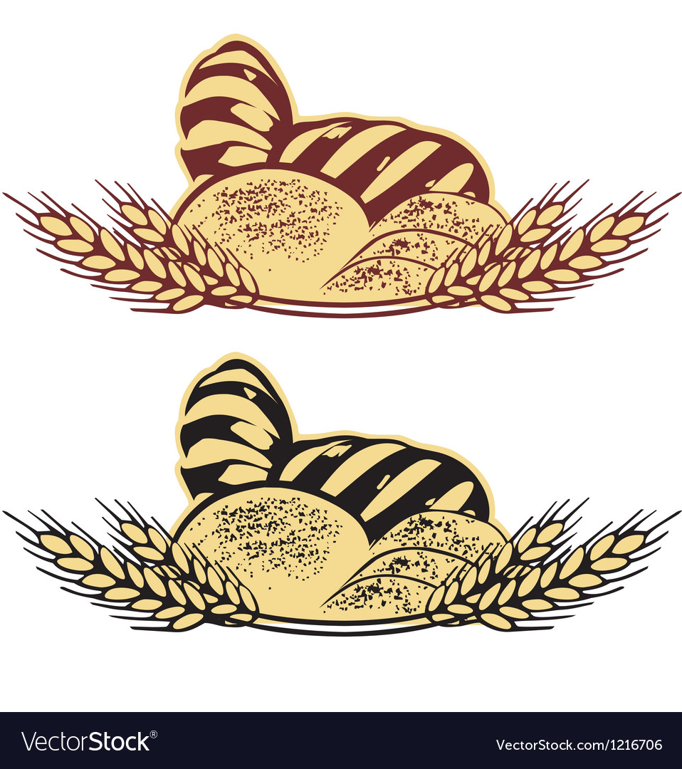 Wheat bread in two colors vector | Price: 1 Credit (USD $1)