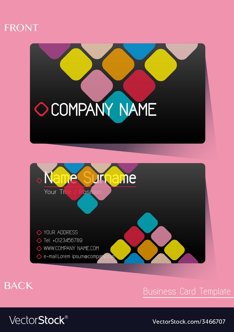 A colourful calling card vector | Price: 1 Credit (USD $1)