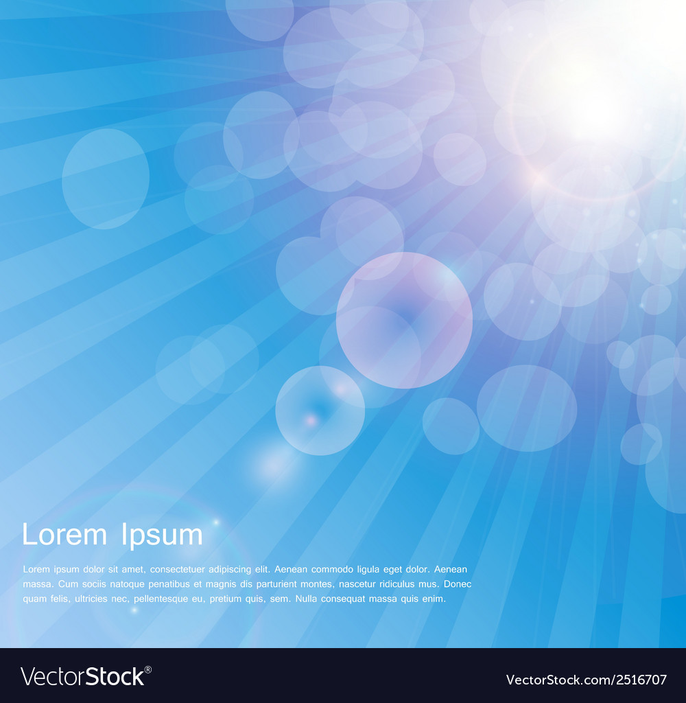 Abstract natural sunshine background vector | Price: 1 Credit (USD $1)