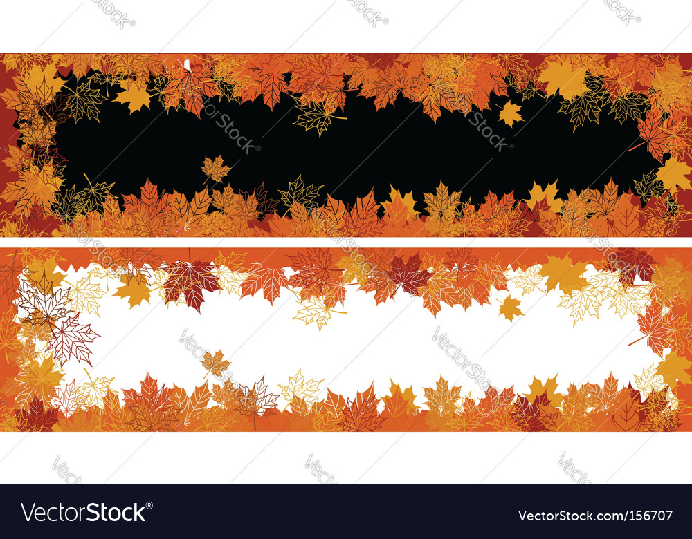 Autumn frame maple leaf vector | Price: 1 Credit (USD $1)