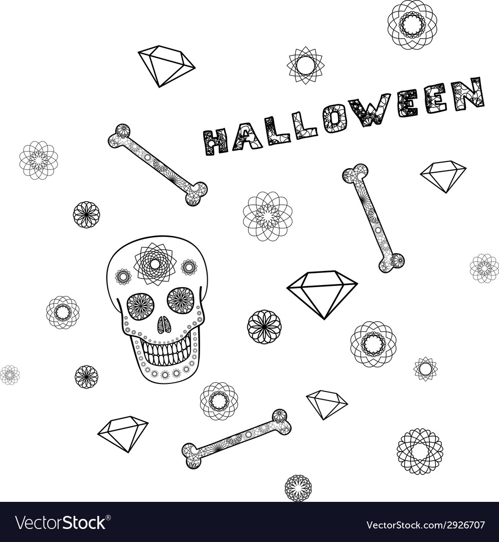 Background with skull vector | Price: 1 Credit (USD $1)